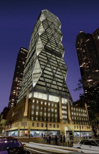 Hearst Tower - Noční vizualizace - foto: © Foster and Partners