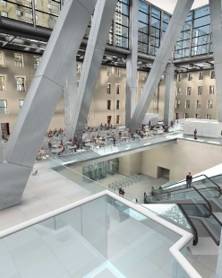 Hearst Tower - Vizualizace lobby - foto: © Foster and Partners